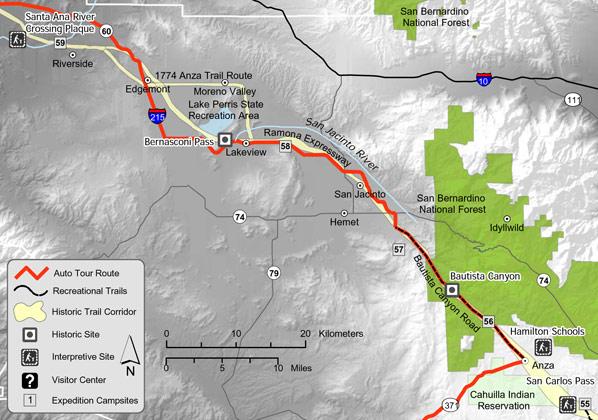 Juan Bautista de Anza National Historic Trail Guide Riverside County