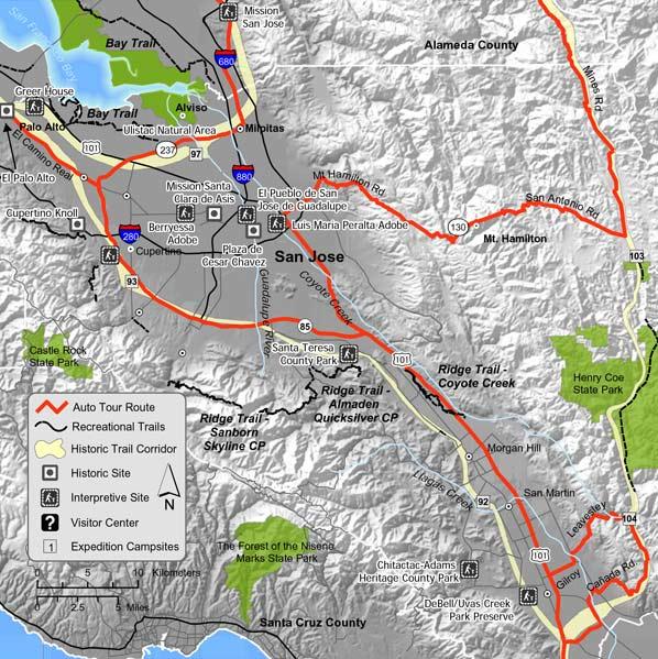 Juan Bautista de Anza National Historic Trail Guide Santa Clara County